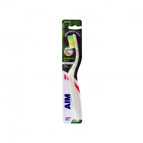 Aim οδοντόβουρτσα bamboo salt / μαλακή