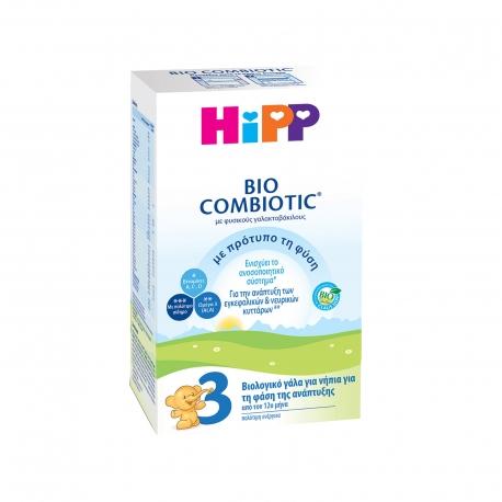 ΓΑΛΑ ΣΕ ΣΚΟΝΗ ΠΑΙΔΙΚΟ (600g) HIPP COMBIOTIC No 3 +12ΜΗΝΩΝ - ΒΙΟΛΟΓΙΚΟ