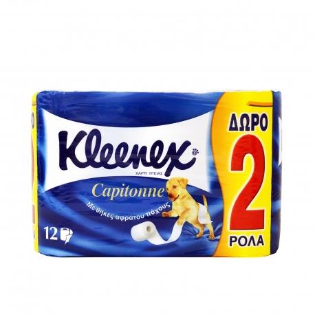 ΡΟΛΟ ΧΑΡΤΙ ΥΓΕΙΑΣ 12 ΤΕΜΑΧΙΩΝ - KLEENEX CAPITONNE 2ΦΥΛΛΟ