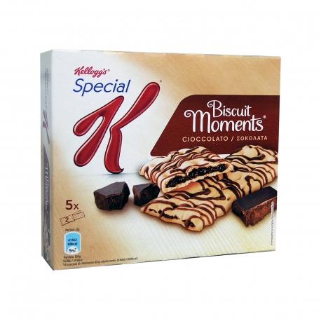 ΜΠΙΣΚΟΤΑ ΓΕΜΙΣΤΑ (5x25g) CHOCOLATE KELLOGG'S SPECIAL K/BISCUIT MOMENTS
