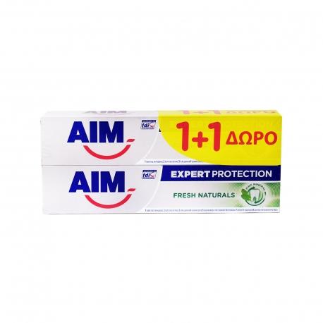 ΟΔΟΝΤΟΚΡΕΜΑ (2x75ml) FRESH NATURALS AIM EXPERT PROTECTION