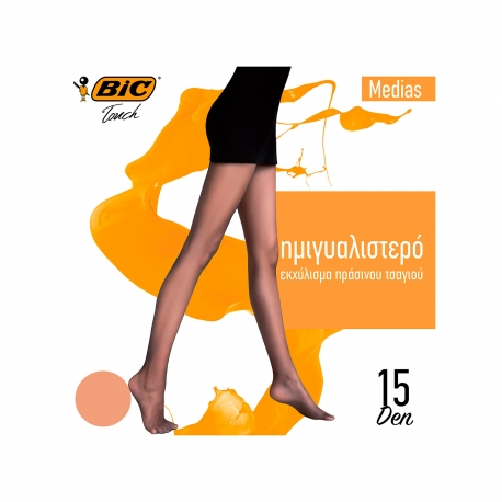 BIC ΚΑΛΣΟΝ MEDIAS XL / ΜΕΛΙ 15 DEN