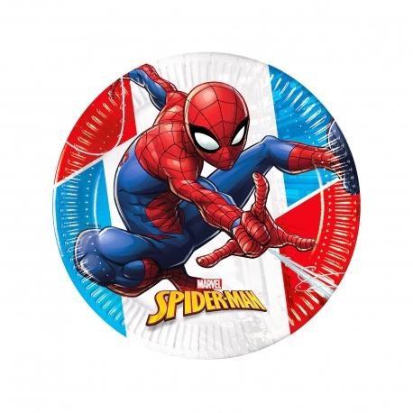 Decorata πιάτα χάρτινα compostable / spiderman (8τεμ.)