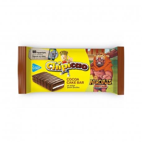 CHIPICAO ΚΕΙΚ ΠΑΙΔΙΚΟ COCOA CAKE BAR ΜΕ ΚΡΕΜΑ, ΓΕΥΣΗ ΒΑΝΙΛΙΑΣ (64g)
