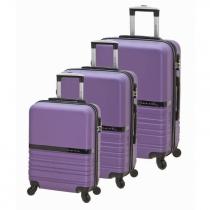Σετ βαλίτσες 3τεμ BARTUGGI μωβ 712-8064/3