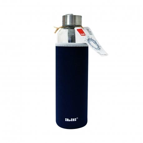 Ibili μπουκάλι γυάλινο 758105β με θήκη υφασμάτινη