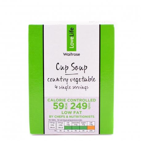 Waitrose σούπα στιγμής love life country vegetables χαμηλά λιπαρά (4X16.5g)