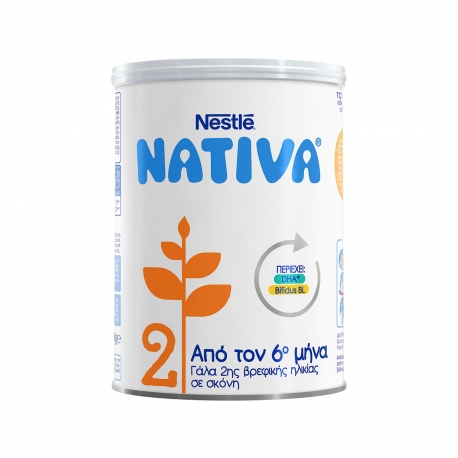 Nestle γάλα σε σκόνη παιδικό nativa 2 +6μηνών (400g)