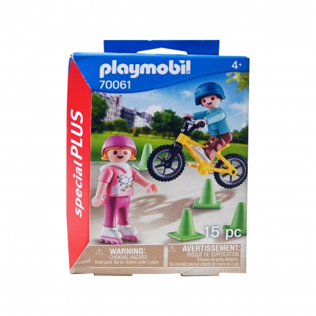 Playmobil παιχνίδι 70061 παιδάκια με πατίνι & ποδήλατο +4 ετών