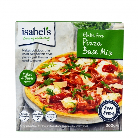 Isabel μείγμα για βάση πίτσας - χωρίς γλουτένη,vegan,προϊόντα που μας ξεχωρίζουν (300g)
