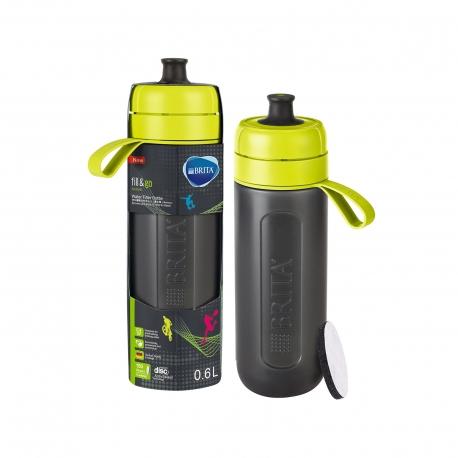 Brita μπουκάλι νερού με φίλτρο fill & go lime 0,6lt