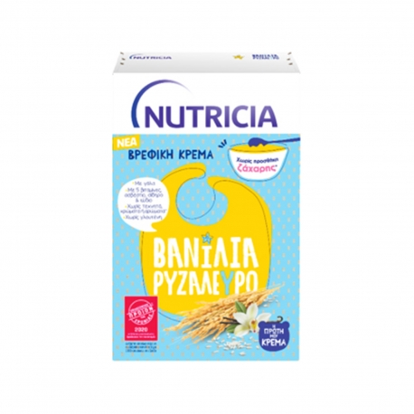 Nutricia κρέμα σε σκόνη παιδική Η πρώτη μου κρέμα βανίλια, ρυζάλευρο - χωρίς προσθήκη ζάχαρης + 6 μηνών (250g)