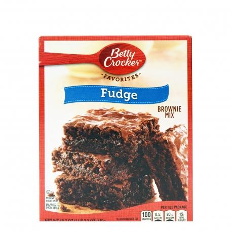 Betty crocker μείγμα για brownie fudge (519g)