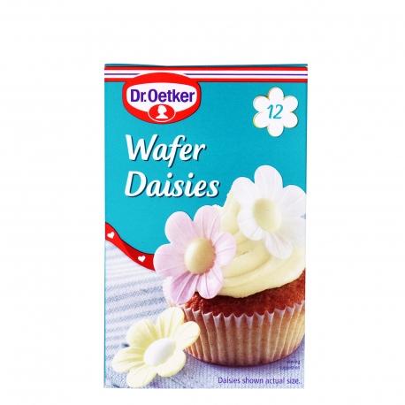 Dr. oetker διακοσμητικά ζαχαροπλαστικής μαργαρίτες γκοφρέτας - προϊόντα που μας ξεχωρίζουν (12τεμ. )