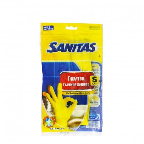 Sanitas γάντια γενικής χρήσης small / με βαμβακερή επένδυση