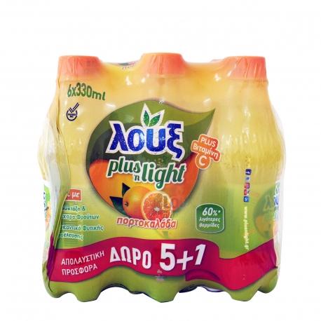 Λουξ αναψυκτικό πορτοκαλάδα plus n'light βιταμίνη C - (330ml) (5+1)