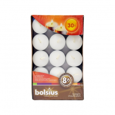 Bolsius κεριά ρεσώ διάρκεια 8 ωρών (30τεμ. )