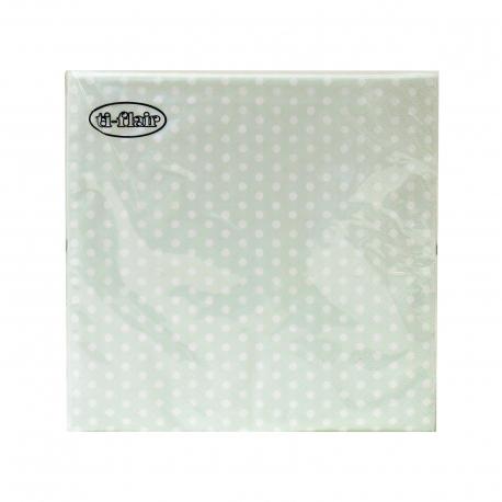 Ti - Flair χαρτοπετσέτες μεσαίες 379224 πουά, χρώμα μέντας 33X33 εκ, 20 τεμάχια (120g)