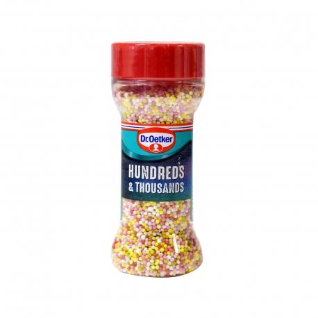 Dr. oetker διακοσμητικά ζαχαροπλαστικής hundrends & tsousands sugar balls - προϊόντα που μας ξεχωρίζουν (65g)