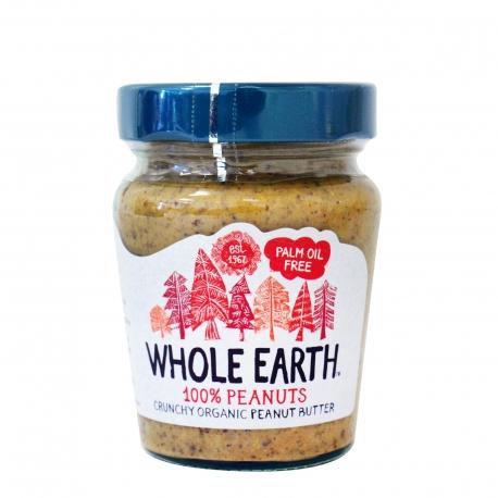 Whole earth φυστικοβούτυρο crunchy - βιολογικό, χωρίς γλουτένη, χωρίς προσθήκη ζάχαρης, προϊόντα που μας ξεχωρίζουν (227g)
