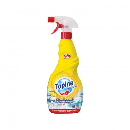 Topine υγρό πολυκαθαριστικό για οικιακή χρήση multi chlor με ενεργό χλώριο, άρωμα λεμόνι (750ml)