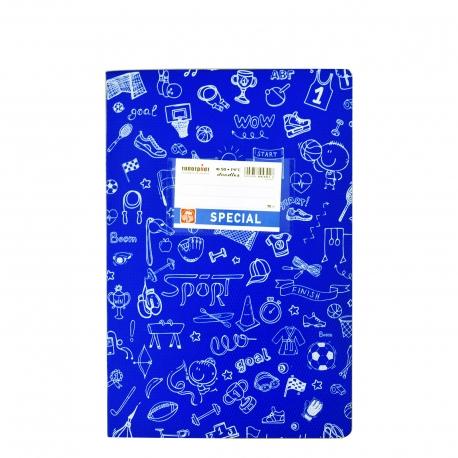Special doodles τετράδιο μπλε