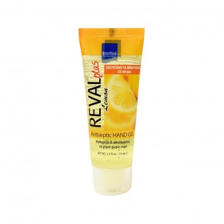 Intermed αντισηπτικό gel χεριών reval plus lemon (75ml)