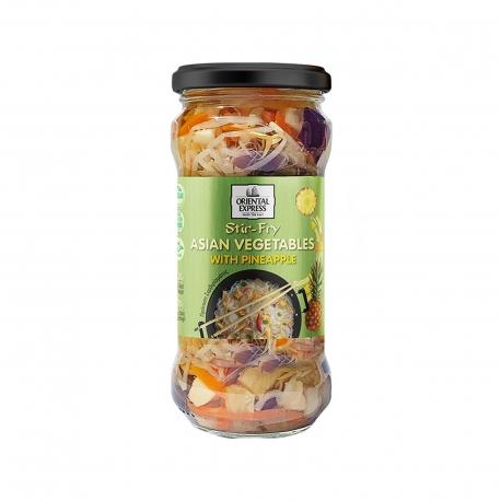 Oriental Express μείγμα ασιατικών λαχανικών σε άλμη με ανανά - χωρίς γλουτένη,vegan (180g)