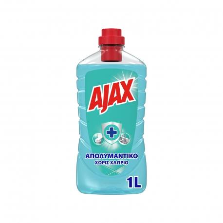 Ajax υγρό καθαριστικό & απολυμαντικό πατώματος ocean fresh (1lt)