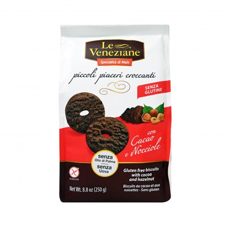 Le veneziane μπισκότα με κακάο & φουντούκια - χωρίς γλουτένη (250g)