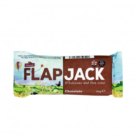 Wholebake μπάρα βρώμης flapjack σοκολάτα - χωρίς γλουτένη, προϊόντα που μας ξεχωρίζουν (80g)