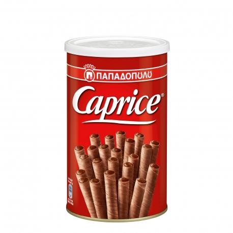 Παπαδοπούλου γκοφρέτα πουράκι caprice με κρέμα φουντουκιού & κακάο (400g)