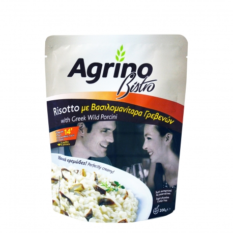 Agrino ριζότο προμαγειρεμένο bistro με βασιλομανίταρα Γρεβενών - χωρίς γλουτένη (200g)