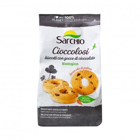 Sarchio μπισκότα cioccolosi με σταγόνες σοκολάτας - βιολογικό, χωρίς γλουτένη, προϊόντα που μας ξεχωρίζουν (200g)