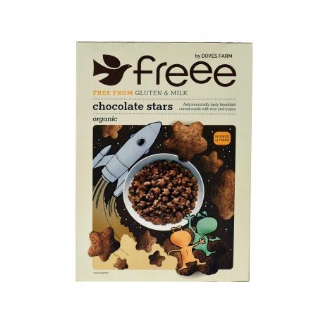 Doves farm δημητριακά freee chocolate stars , χωρίς γάλα - βιολογικό, χωρίς γλουτένη, προϊόντα που μας ξεχωρίζουν (300g)