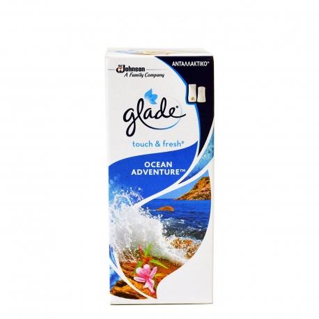 Glade ανταλλακτικό αποσμητικού χώρου touch & fresh ocean adventure (10ml)