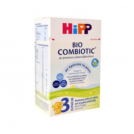Hipp γάλα σε σκόνη παιδικό combiotic No. 3 - βιολογικό +12 μηνών (600g)