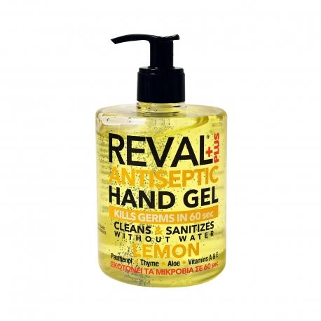 Reval+plus αντισηπτικό gel χεριών lemon (500ml)