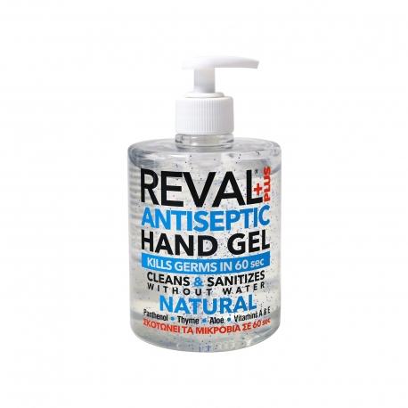 Reval+plus αντισηπτικό gel χεριών natural (500ml)